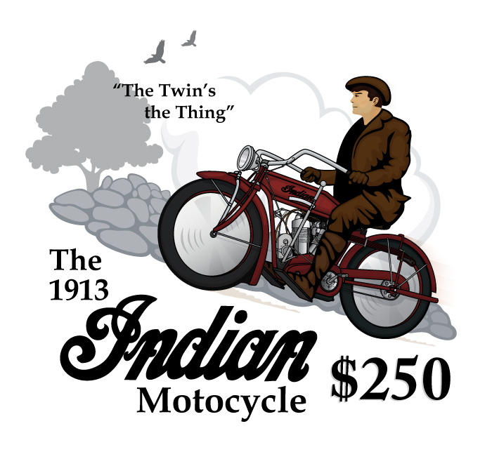Indian V-Twin Banner by Tim Jepson